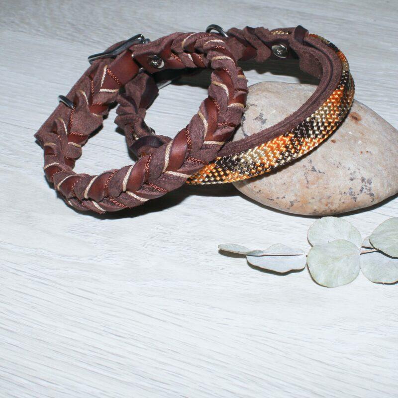 Halsbänder aus Fettleder