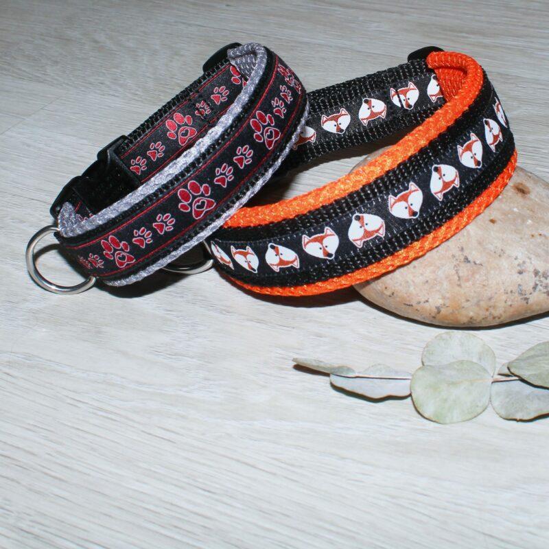 Halsbänder aus Gurtband mit Webband